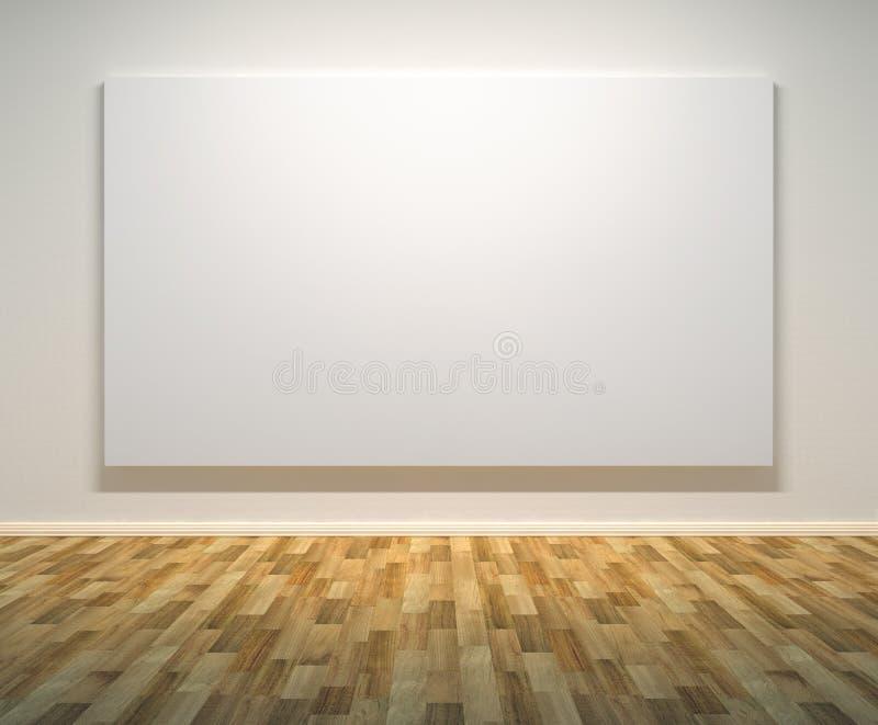 κενός τοίχος έργων ζωγραφ διανυσματική απεικόνιση