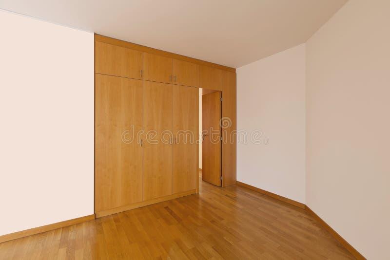 κενός τοίχος δωματίων ντουλαπιών στοκ εικόνες