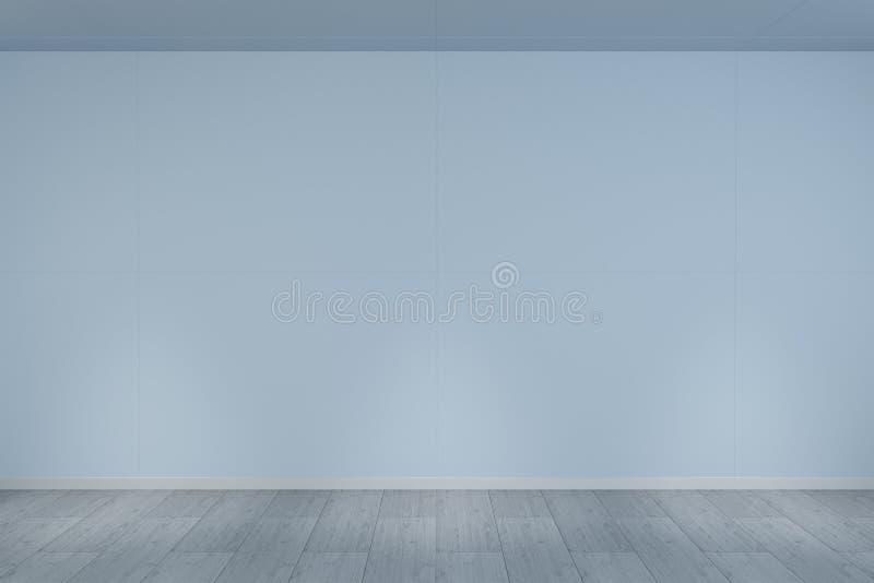 Κενός τοίχος στο μουσείο με την τρισδιάστατη απόδοση φω'των διανυσματική απεικόνιση