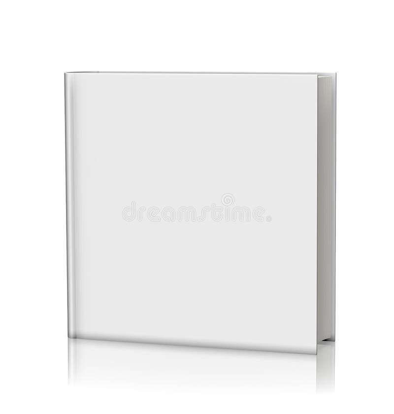 Κενό άσπρο βιβλίο hardcover ελεύθερη απεικόνιση δικαιώματος