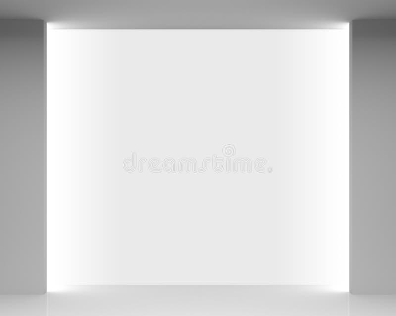 Κενό άσπρο εσωτερικό καταστημάτων με την προθήκη διανυσματική απεικόνιση