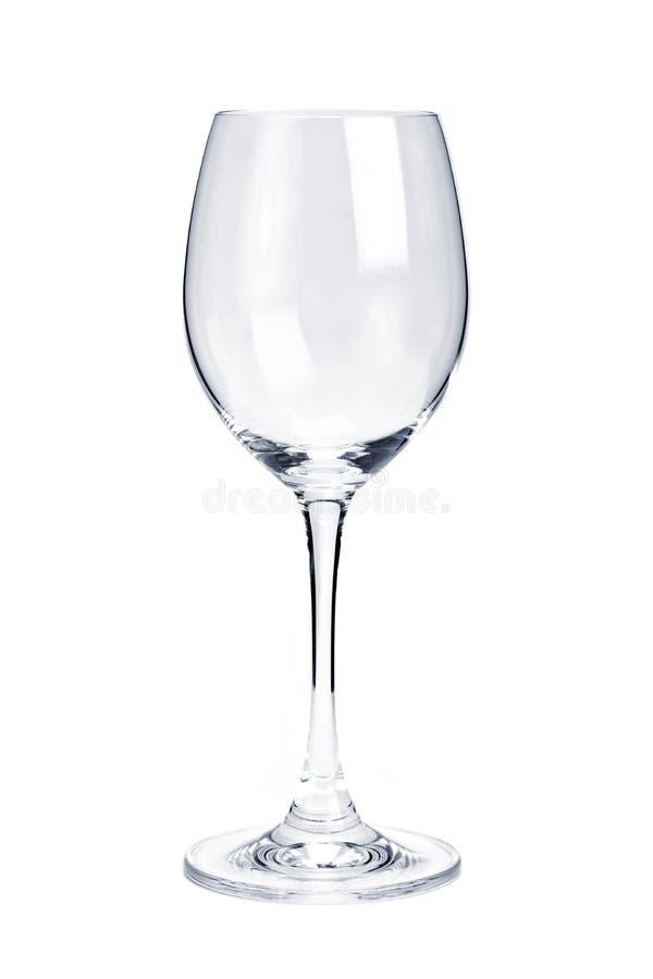 κενό άσπρο κρασί γυαλιού στοκ φωτογραφία