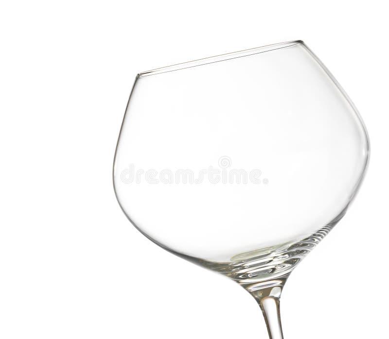 Κενό άσπρο κρασί σε ένα γυαλί με το διάστημα για το κείμενο στοκ εικόνες με δικαίωμα ελεύθερης χρήσης