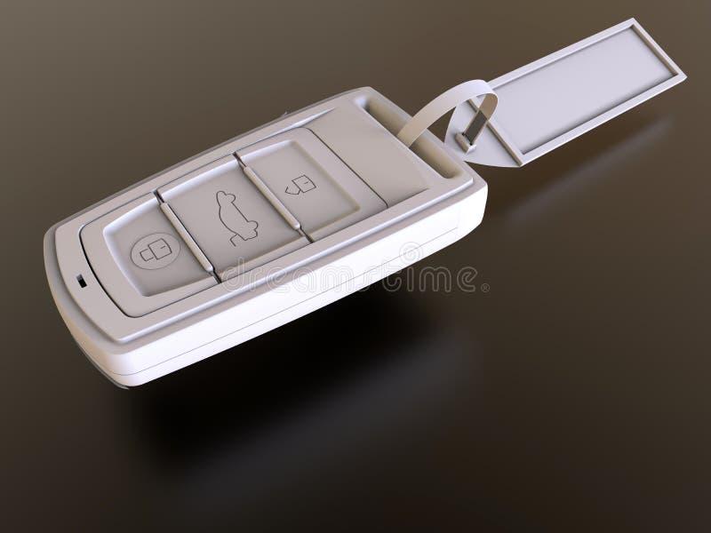 Κενό άσπρο κλειδί αυτοκινήτων απεικόνιση αποθεμάτων