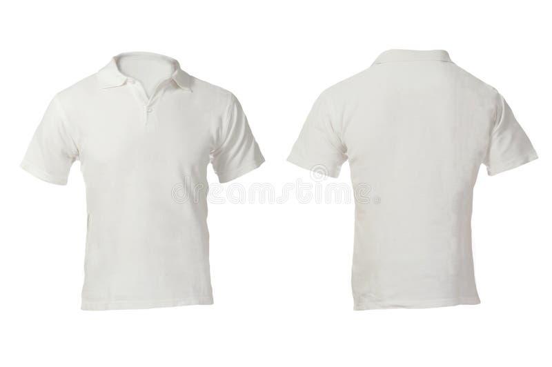 Κενό άσπρο πρότυπο πουκάμισων πόλο ατόμων στοκ φωτογραφίες