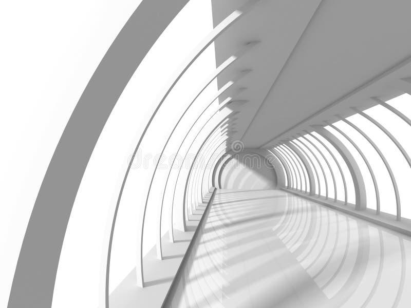 Κενό άσπρο σύγχρονο εσωτερικό υπόβαθρο δωματίων αιθουσών ελεύθερη απεικόνιση δικαιώματος
