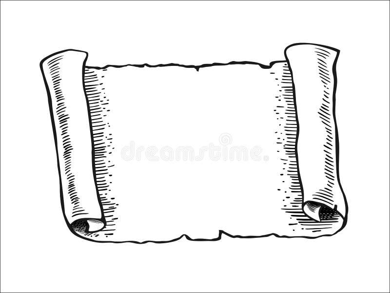 Κενό άσπρο φύλλο του εγγράφου περγαμηνής απεικόνιση αποθεμάτων