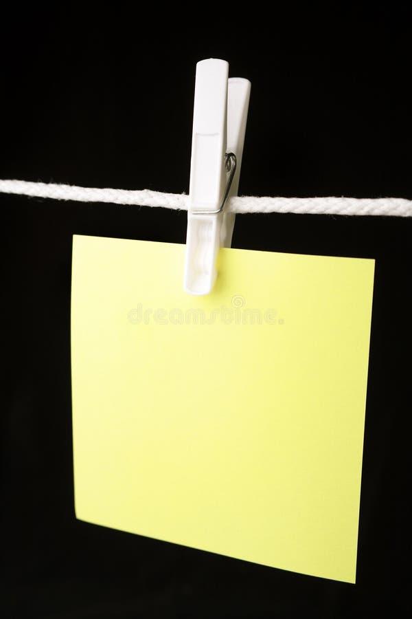 κενό έγγραφο σημειώσεων στοκ εικόνα με δικαίωμα ελεύθερης χρήσης