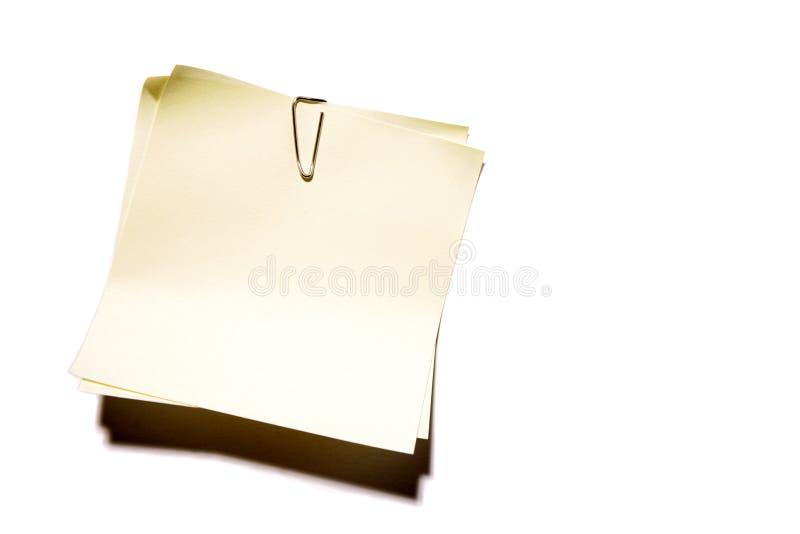 κενό έγγραφο σημειώσεων στοκ φωτογραφία