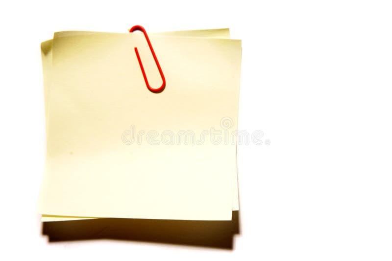 κενό έγγραφο σημειώσεων στοκ εικόνες με δικαίωμα ελεύθερης χρήσης