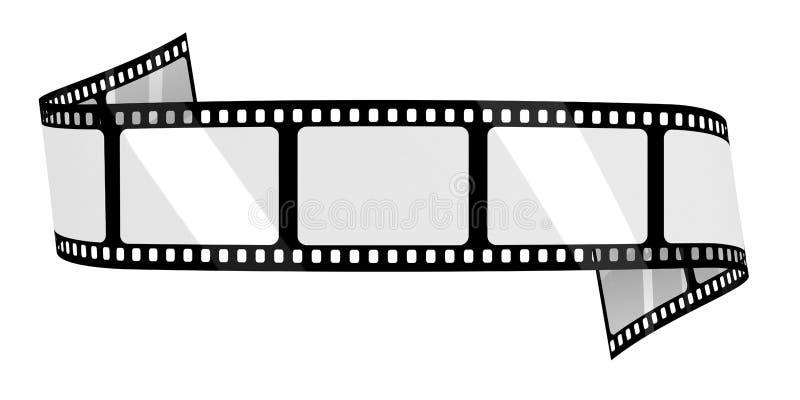 Κενό έμβλημα ταινιών διανυσματική απεικόνιση