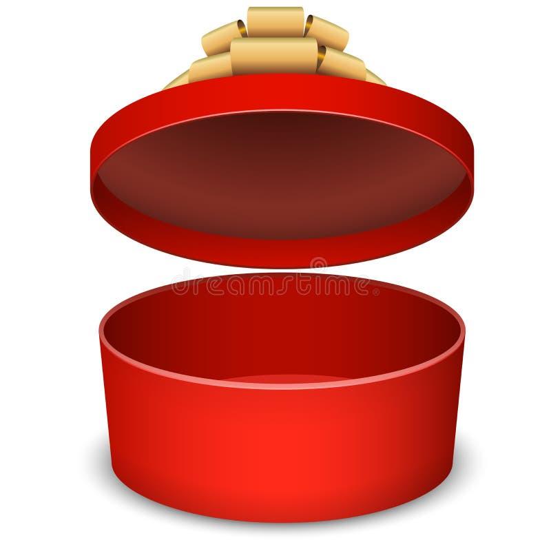 Κενό ανοιγμένο κόκκινο κιβώτιο χριστουγεννιάτικου δώρου ελεύθερη απεικόνιση δικαιώματος