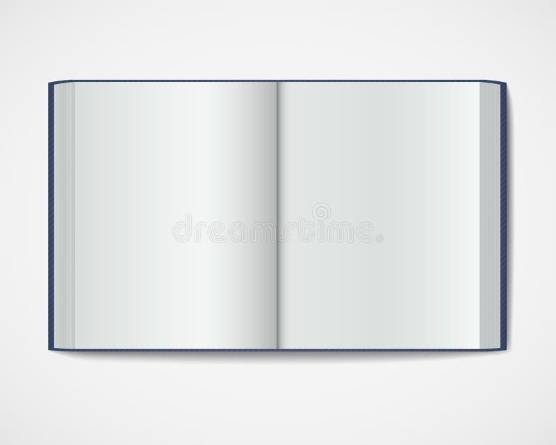 Κενό ανοικτό βιβλίο. Περιοδικό hardcover διανυσματική απεικόνιση