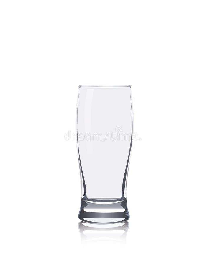 Κενό απομονωμένο γυαλί στοκ φωτογραφίες