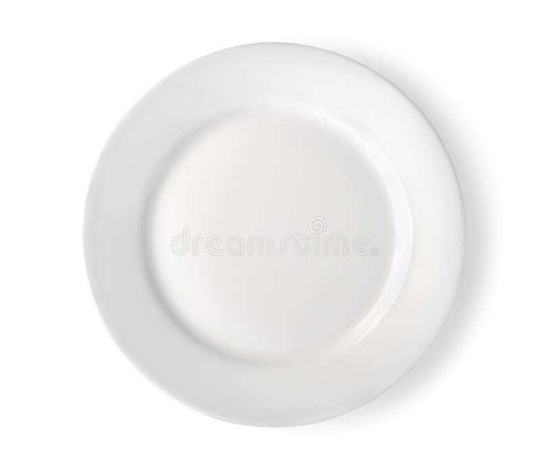 κενό απομονωμένο πιάτο μον&o στοκ φωτογραφίες