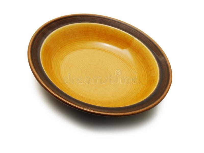 κενό απομονωμένο πιάτο στοκ φωτογραφία