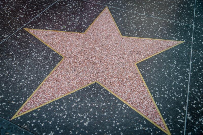 Κενό αστέρι σε Hollywood στοκ εικόνες