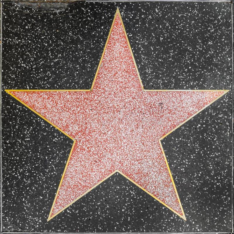 Κενό αστέρι στον περίπατο Hollywood της φήμης στοκ εικόνα με δικαίωμα ελεύθερης χρήσης