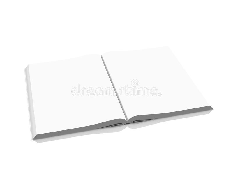 κενό βιβλίο ανοικτό στοκ φωτογραφία