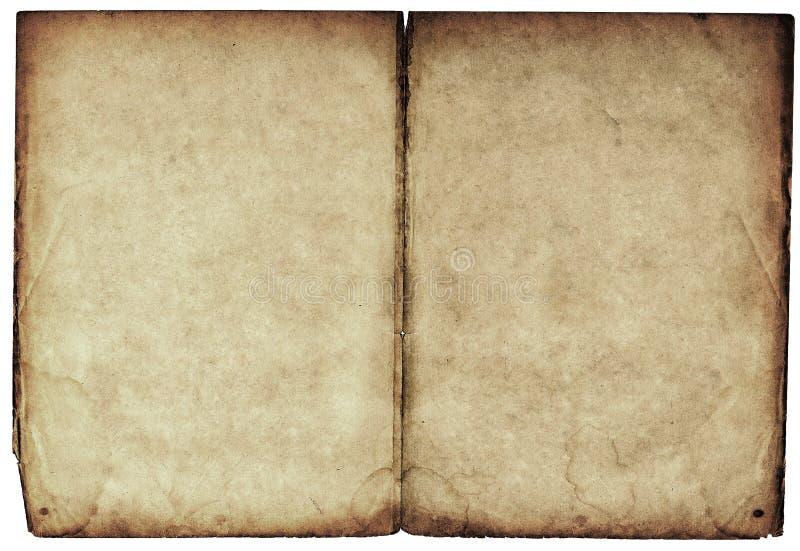 κενό βιβλίο και οι δύο παλαιές ανοικτές σελίδες στοκ φωτογραφία με δικαίωμα ελεύθερης χρήσης