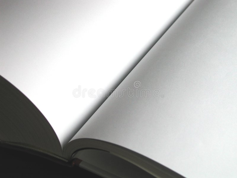 κενό βιβλίο Στοκ Εικόνες