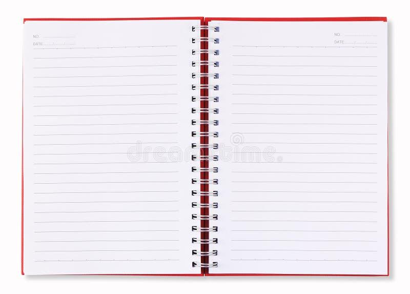 κενό βιβλίων κόκκινο σελίδων σημειώσεων ανοικτό στοκ εικόνα