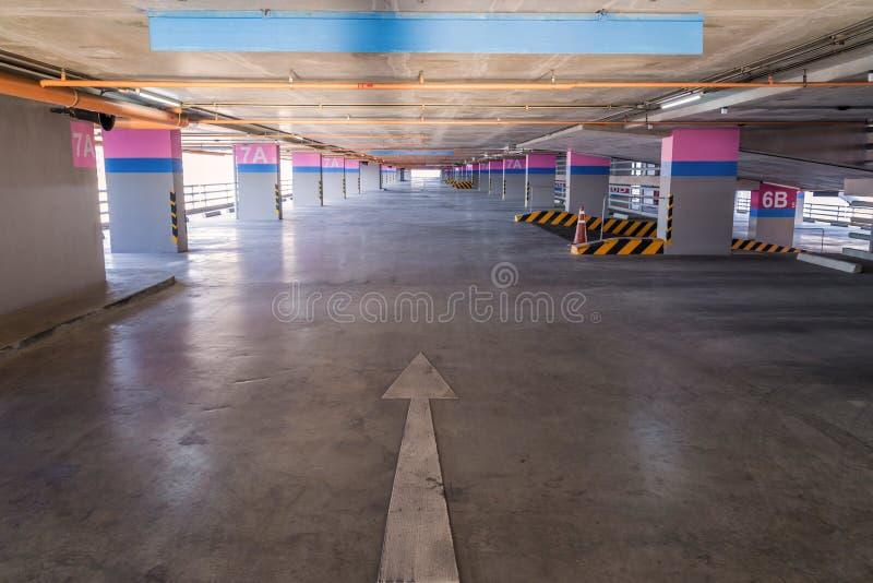 Κενό γκαράζ χώρων στάθμευσης στο κτήριο στοκ φωτογραφίες με δικαίωμα ελεύθερης χρήσης