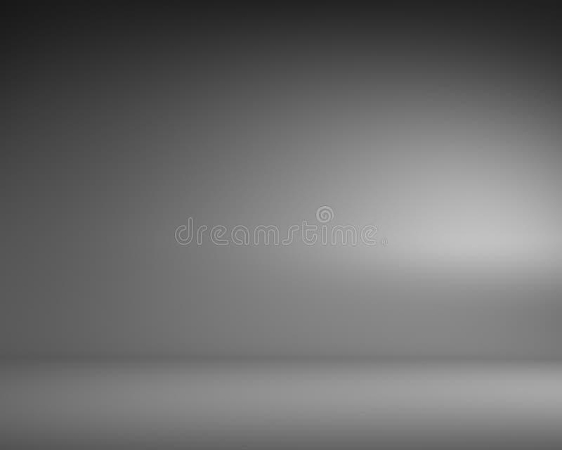 Κενό γκρίζο δωμάτιο με το διάστημα αντιγράφων απεικόνιση αποθεμάτων