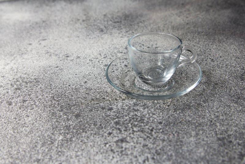 Κενό γκρι πορσελάνης καφέ πετρών φλυτζανιών άσπρο στοκ εικόνες με δικαίωμα ελεύθερης χρήσης