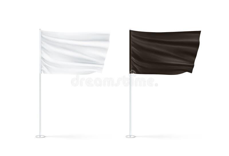 Κενό γραπτό σύνολο προτύπων σημαιών, κυματισμός διανυσματική απεικόνιση