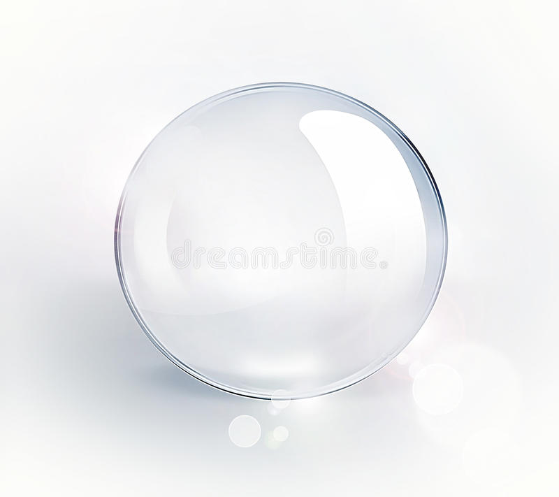 κενό γυαλί σφαιρών διανυσματική απεικόνιση