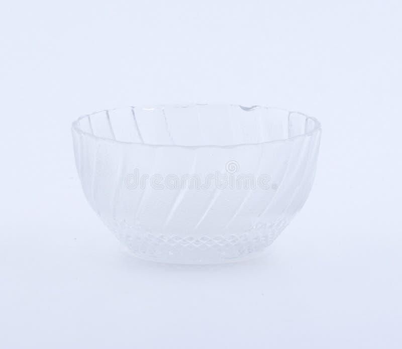 Κενό γυαλί κύπελλων που απομονώνεται στο άσπρο υπόβαθρο στοκ εικόνα