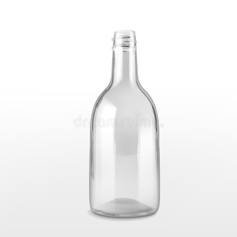 κενό γυαλί μπουκαλιών διανυσματική απεικόνιση