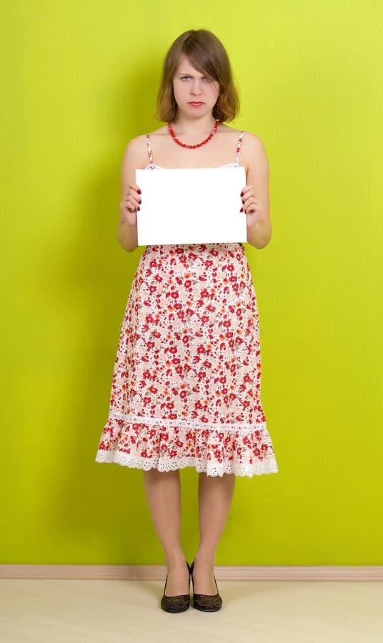 κενό γυναικείο έγγραφο &epsi στοκ εικόνες