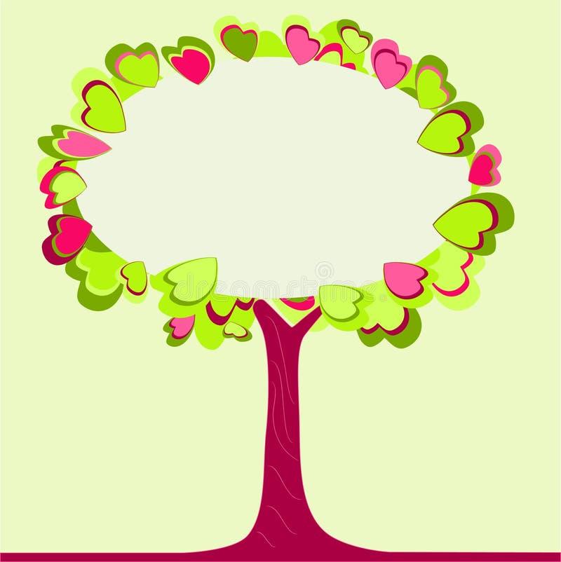 κενό δέντρο καρδιών copyspace διανυσματική απεικόνιση