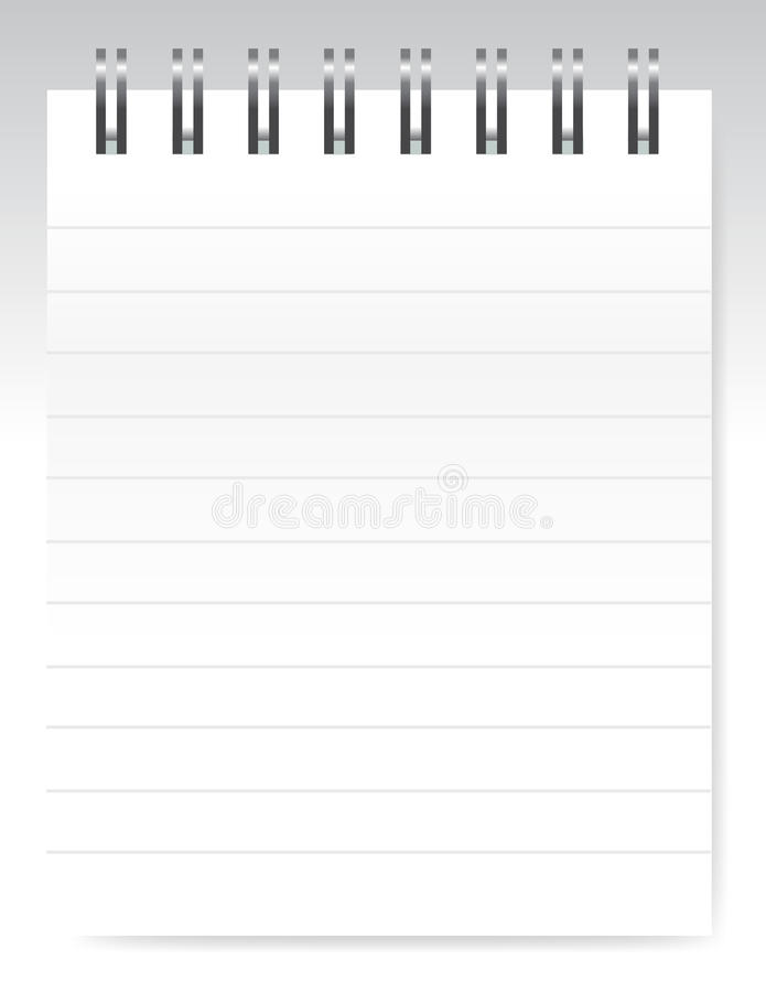 κενό διάνυσμα σημειωματάρ&i διανυσματική απεικόνιση