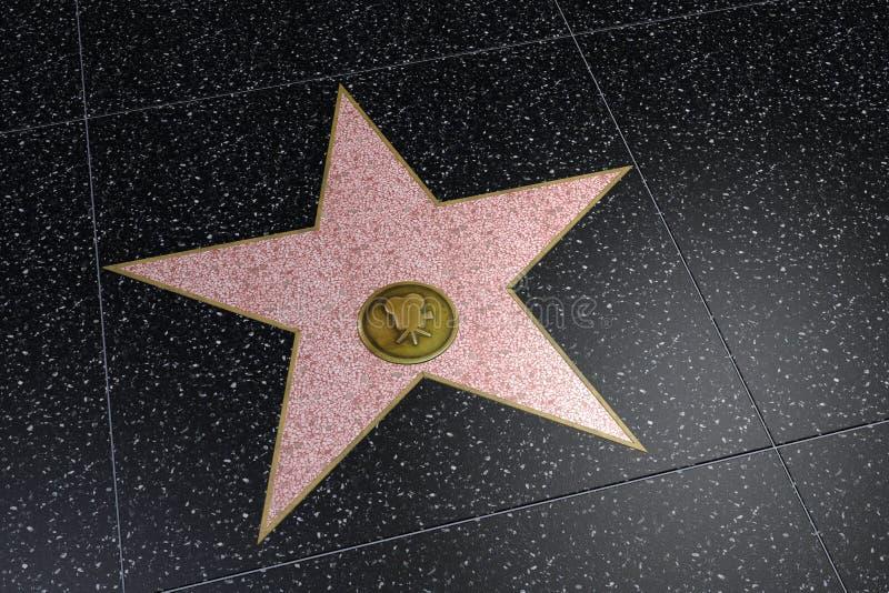 Κενό διάστημα ονόματος σταρ του Χόλιγουντ στοκ φωτογραφίες