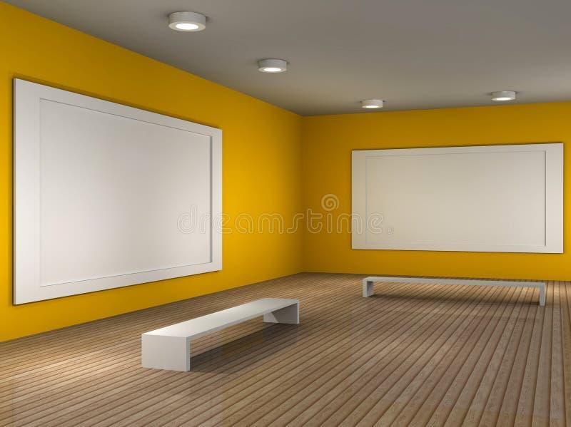 κενό δωμάτιο εικόνων μουσ ελεύθερη απεικόνιση δικαιώματος