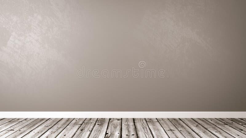 Κενό δωμάτιο με το διάστημα αντιγράφων ελεύθερη απεικόνιση δικαιώματος