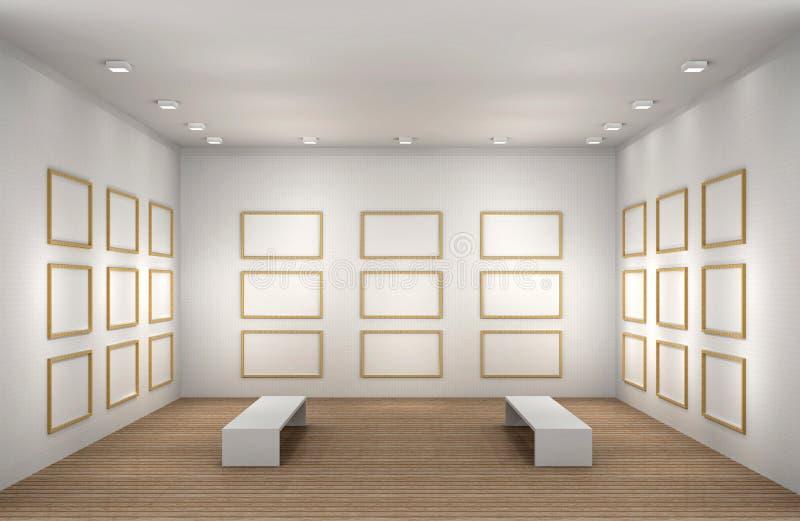 κενό δωμάτιο μουσείων απ&epsil ελεύθερη απεικόνιση δικαιώματος