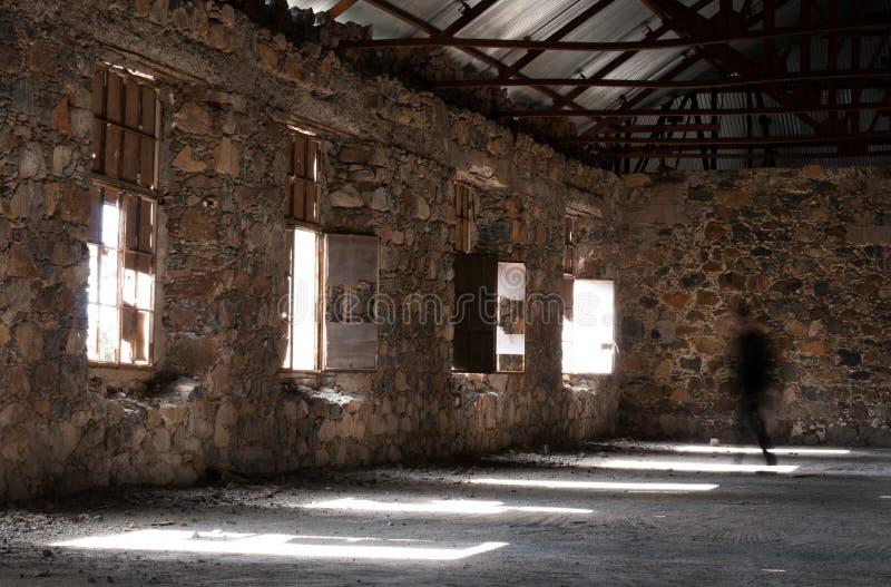 Κενό εγκαταλειμμένο ανατριχιαστικό δωμάτιο ξενοδοχείου στοκ εικόνα με δικαίωμα ελεύθερης χρήσης