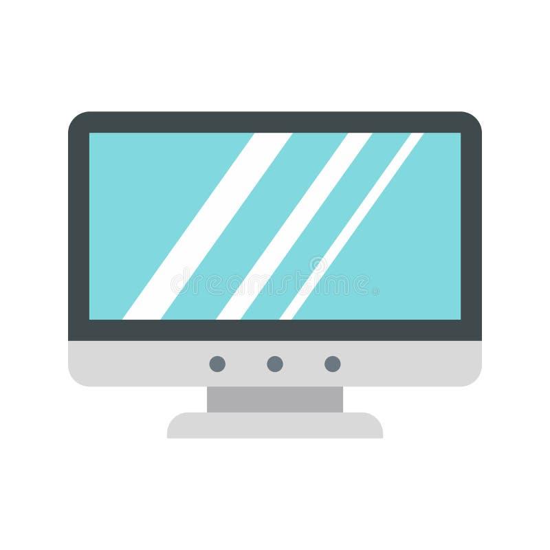 Κενό εικονίδιο οργάνων ελέγχου υπολογιστών, επίπεδο ύφος απεικόνιση αποθεμάτων