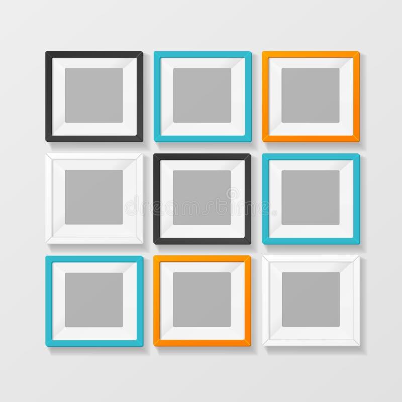 Κενό εικόνα χρώματος ή πλαίσιο Foto για το εσωτερικό διάνυσμα διανυσματική απεικόνιση