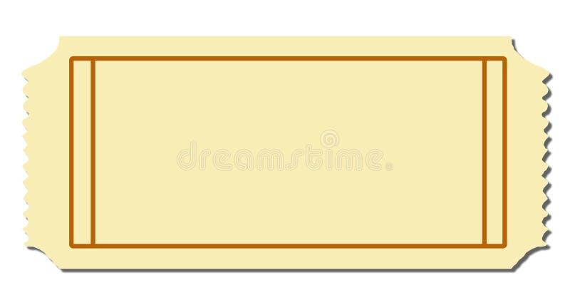 κενό εισιτήριο διανυσματική απεικόνιση