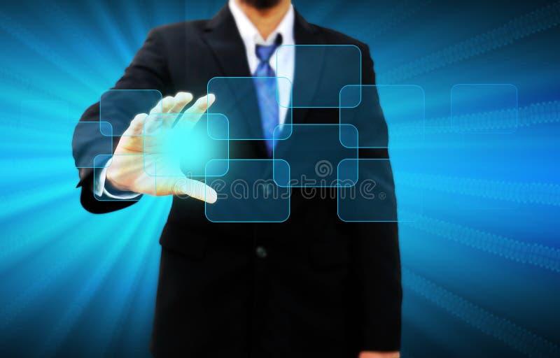Κενό εκμετάλλευσης χεριών επιχειρηματιών στοκ εικόνες