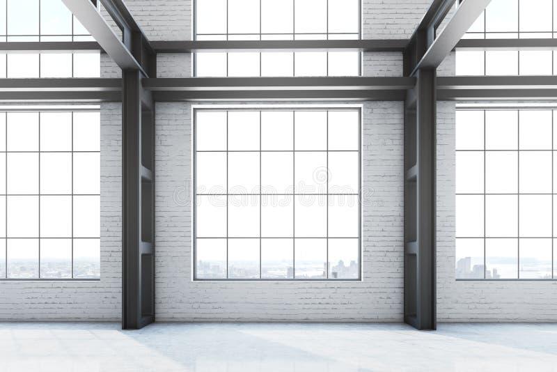 Κενό εσωτερικό γραφείων εργοστασίων απεικόνιση αποθεμάτων