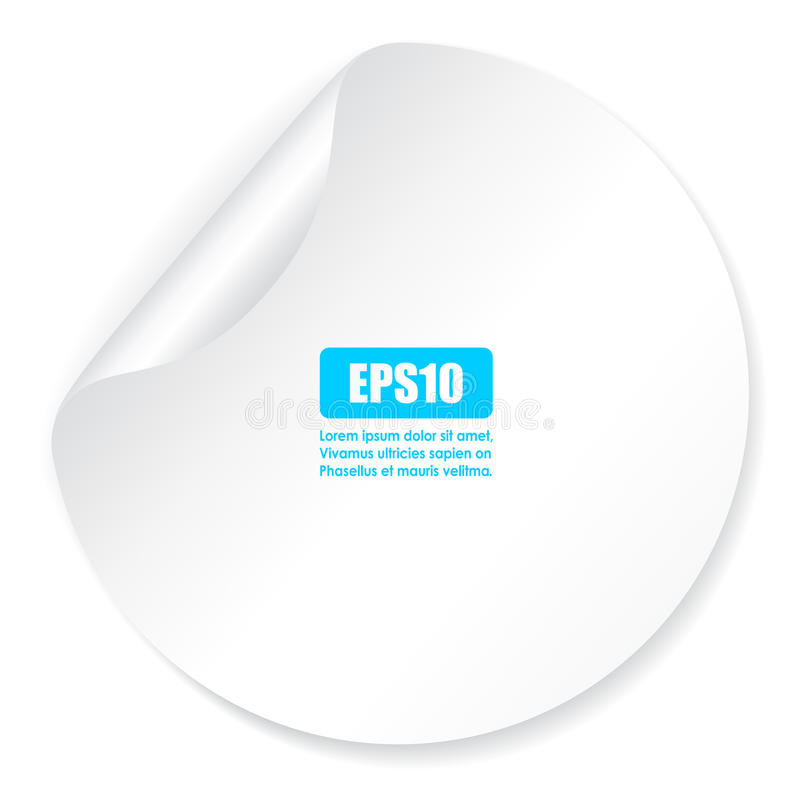 κενό λευκό αυτοκόλλητων ετικεττών διανυσματική απεικόνιση