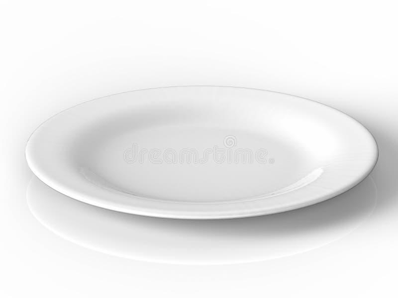 κενό λευκό πιάτων στοκ φωτογραφία με δικαίωμα ελεύθερης χρήσης