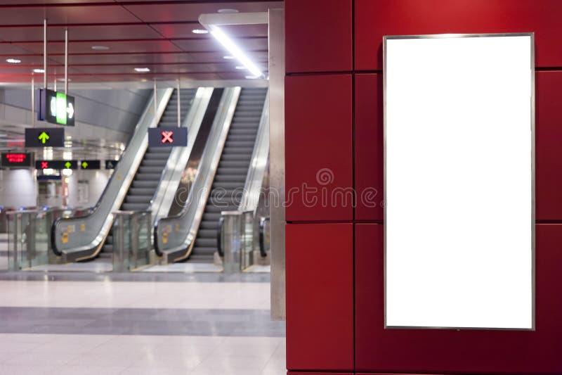 κενό λευκό πινάκων διαφημί&sig στοκ εικόνες με δικαίωμα ελεύθερης χρήσης