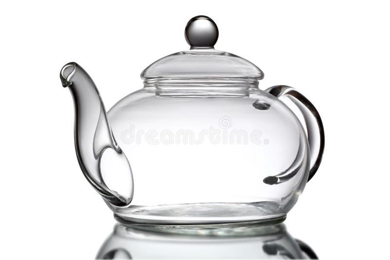 κενό ελαφρύ teapot γυαλιού βραδιού στοκ φωτογραφία με δικαίωμα ελεύθερης χρήσης